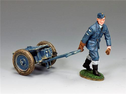 King and Country RAF046: RAF Airfield Starter Cart Set