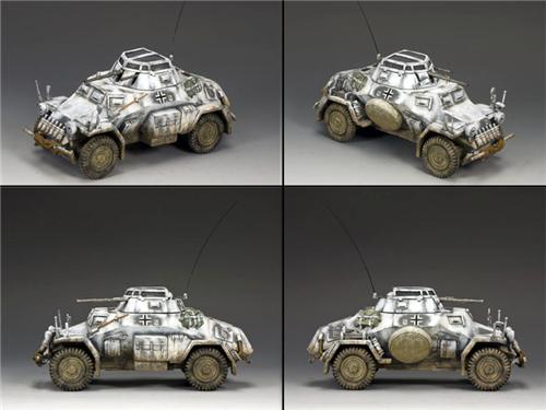 King and Country BBG054: SD. KFZ 222 Armoured Car (Winter Camouflage)