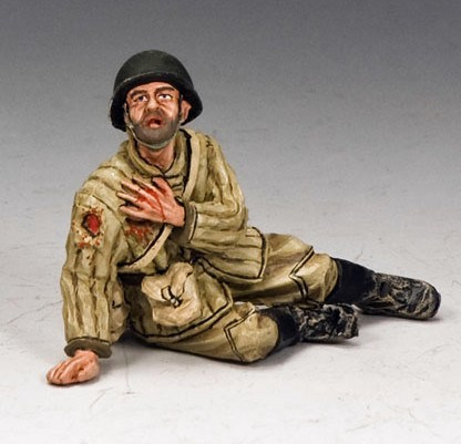 King and Country RA022: Red Army Soldier Sitting Wounded