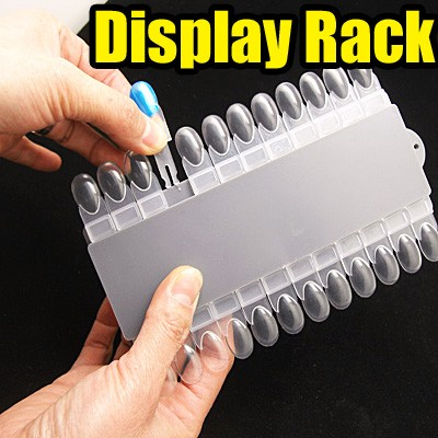 24 Inserts Removable Nail Art Tips Practice Display Rack Everbella