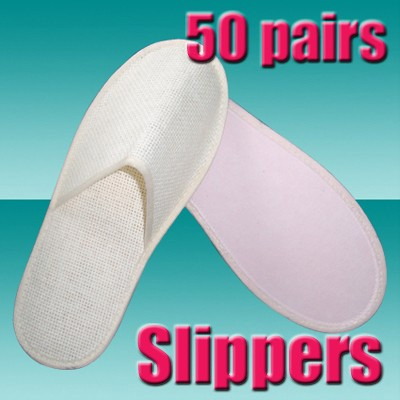 ae4338e973e 50 Pairs Salon Spa Disposable Paper Pedicure Slippers. 50015- THUMB disposable  non woven fabric slippers edited-1.jpg 6 10