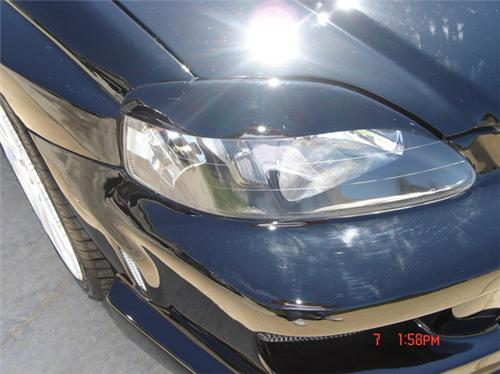 Headlight Eyebrows Eyelids Covers For 1999 2000 Honda