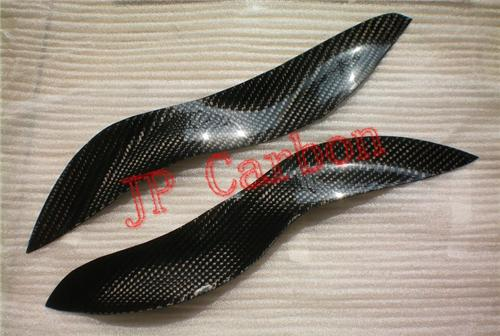 Carbon Fiber Headlight Eyebrows Eyelids Covers for 2003-2006 Smart ForTwo  450