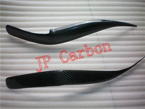 Carbon Fiber Headlight Eyebrows Eyelids Covers for 1998-2003 Lexus RX300 Barrier JDM