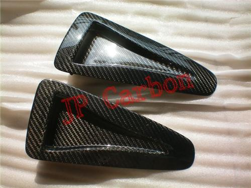 Carbon Fiber Hood Bonnet Scoops Vents for 2008-2012 Nissan Skyline R35 GTR
