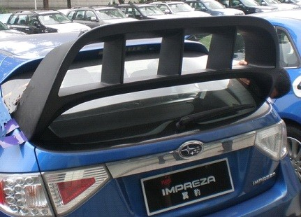 Rear Window Roof Spoiler Wing For 2008 2012 Subaru Impreza