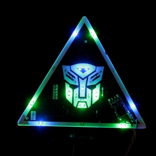 Triangle Transformer Pattern LED Colorful Car Warning Light New