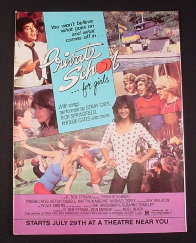 Magazine Ad for Private School For Girls Movie, 1983, Starring Phoebe Cates
