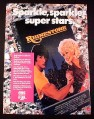 Magazine Ad for Rhinestone Movie on VHS & Beta, 1985, Stalone & Parton