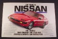 Magazine Ad for Nissan 300 ZX Turbo Car, 1985,