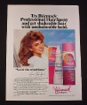 Magazine Ad for Jhirmack Hair Spray, Victoria Principal Celebrity Endorsement, 1985