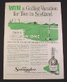 Magazine Ad for Old Smuggler Scotch, Golfing Vacation To Scotland