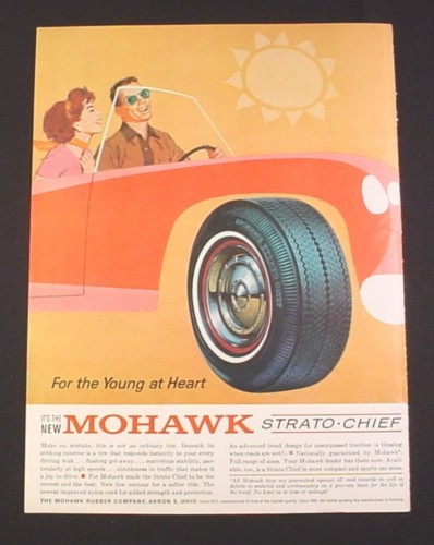 """Magazine Ad for Mohawk Strato Chief Tire, """"For the young at Heart"""""""