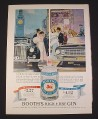 Magazine Ad for Booth's High & Dry Gin, 1962, London & New York Prices