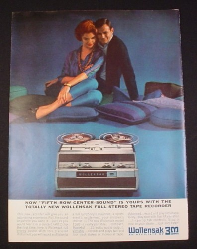 Magazine Ad for Wollensak Stereo Tape Recorder 1962