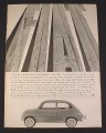 Magazine Ad for Fiat Series 600 Sedan Car, 1960, Freeways