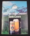 Magazine Ad for Coors Beer, 1981,