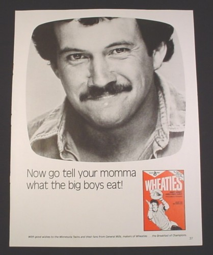"""Magazine Ad for Wheaties Cereal, 1984, """"Now go tell your Momma"""