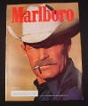 Magazine Ad for Marlboro Cigarettes, 1985, Cowboy with White Hat, Marlboro Man