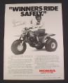 Magazine Ad for Honda 3 Wheel ATV, 1984,