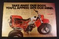 Magazine Ad for Honda 3 Wheel ATC 200X, 1984, 2 Page Ad 10 3/4