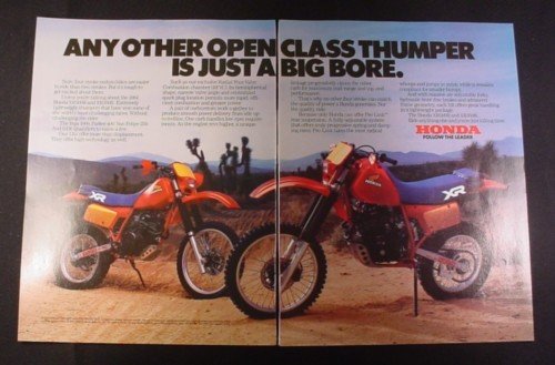 Magazine Ad for Honda XR500R & XR350R Enduro Bikes Motorcycle, 1984