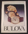 Magazine Ad for Bulova Watch Watches, 1976, 3 Models, , 12021, 10600, 12649