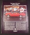 Magazine Ad for Jaguar XJC Coupe Car, 1976, Helicopters in the Background