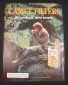 Magazine Ad for Camel Filters Cigarettes, 1984, Man with curly hair in Jungle