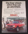 Magazine Ad for GMC S-15 4X4 Jimmy, 1985