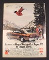 Magazine Ad for Dodge Aspen Car, 1976, Wayne Wong Celebrity