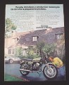 Magazine Ad for Yamaha RD400 Motorcycle, 1976