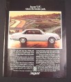 "Magazine Ad for Jaguar XJC Car, 1976, ""Above the beaten path"""