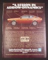 Magazine Ad for Plymouth Arrow 1976 A lesson in Arrow-Dynamics