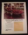 Magazine Ad for Bradley GT Sports Car Kit, 1976, 8 1/4