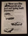 Magazine Ad for Maserati Khamsin GT Car 1976 Grossman Motor Car