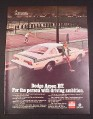Magazine Ad for Dodge Aspen RT Car, 1976, Tennis Courts