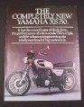Magazine Ad for Yamaha XS 750 Motorcycle, 1976, 8 1/4