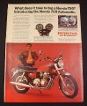 Magazine Ad for Honda CB-750 Automatic Motorcycle, 1976
