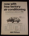 "Magazine Ad for AMC Pacer Car, 1976, $3499, 8 1/4 "" by 10 3/4"""