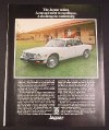 Magazine Ad for Jaguar Sedan Car, 1976, Horse Paddocks