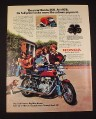 Magazine Ad for Honda 360 Motorcycle, 1976, CJ-360T, Students