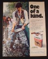 Magazine Ad for Camel Cigarettes, 1977, Panning for Gold