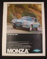 Magazine Ad for Monza 2+2 Car, 1977, Blue Front View