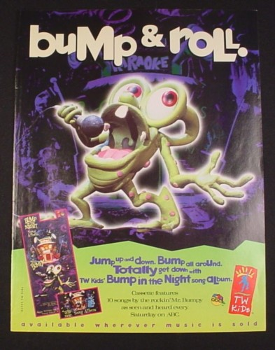 Magazine Ad for Bump In The Night, 1995, Mr Bumpy Cartoon Character
