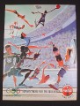 Magazine Ad for Coca-Cola Coke, 1995, Cartoon Olympic Athletes