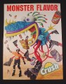 Magazine Ad for Crush Soft Drinks, 1995, Rollerblade Monster