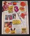 Magazine Ad for Honey-Comb Cereal, 1995, B-Ball Posters
