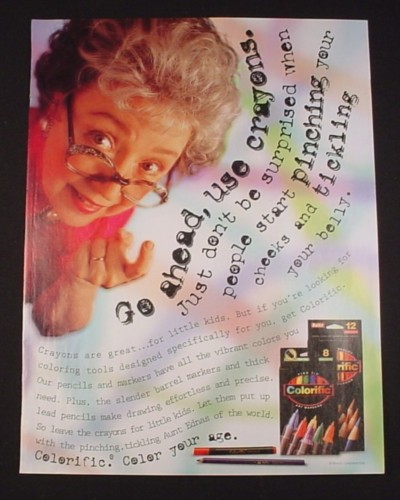 Magazine Ad for Colorific Pencil Crayons & Markers, 1995