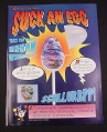 Magazine Ad for Suck An Egg Candies, 1995, Spangler